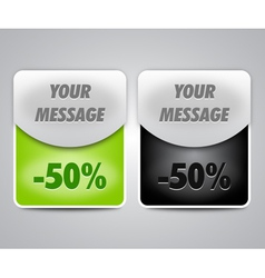 discount boxes for web design vector image