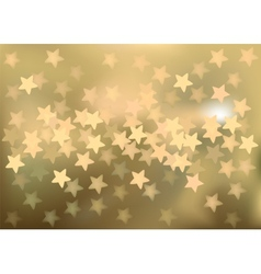 Golden festive lights in star shape background vector image