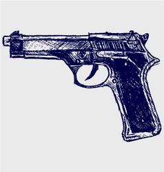 Gun black vector image vector image