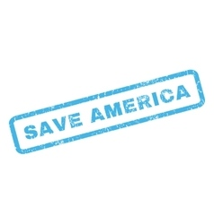 Save America Rubber Stamp vector image