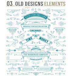 Set of elements and banners and layered vector image vector image