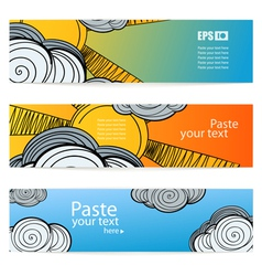 Set of weather information banners vector image vector image