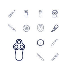 13 cutter icons vector