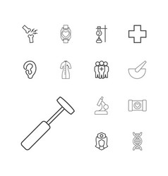 13 medical icons vector