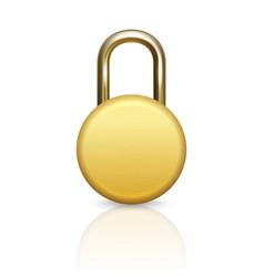 3d realistic closed circle metal golden vector