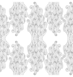 abstract hand-drawn pattern with waves and vector image
