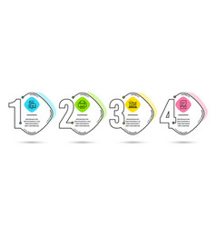Accounting report sound check and printer icons vector