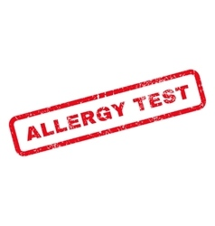 Allergy Test Text Rubber Stamp vector