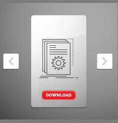 App build developer program script line icon in vector