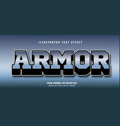 armor text effect vector image