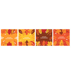 autumn background autumn leaves for banner poster vector image