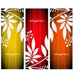 autumn greeting cards vector image