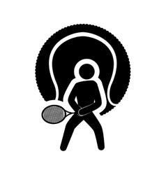 Ball tennis sport design vector