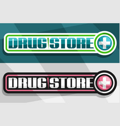Banners for drug store vector