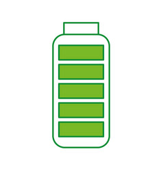 Battery supply isolated icon vector