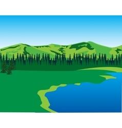 Beautiful year landscape vector image