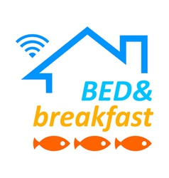 Bed and breakfast vector