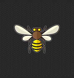 Bee logo design template bee head icon vector