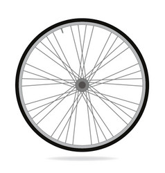 bike wheel - on white backgrou vector image