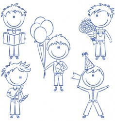 birthday and holiday kids vector image