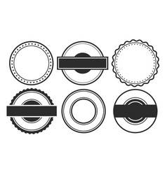 blank empty circular stamps or labels set six vector image