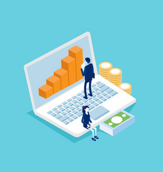 Business analysis and planning financial vector