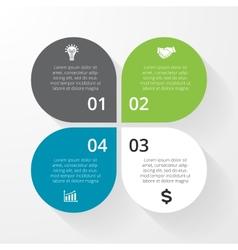 Business circle infographic diagram presentation 4 vector image