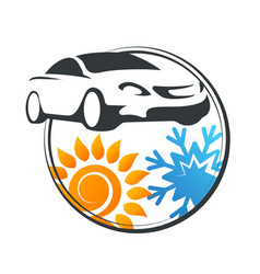 car air conditioner service vector image
