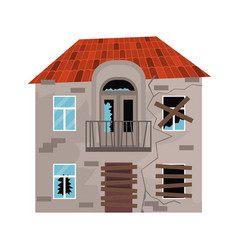 cartoon color old house on a white vector image