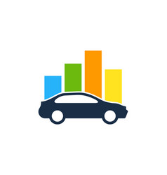 Chart automotive logo icon design vector