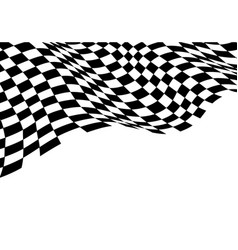 checkered flag wave monochrome black white vector image
