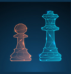 Chess queen and pawn vector