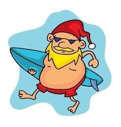 Christmas Santa surfing collection stock vector image
