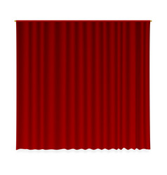 closed curtain vector image