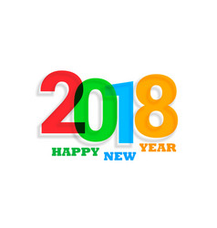 colorful 2018 text new year background vector image