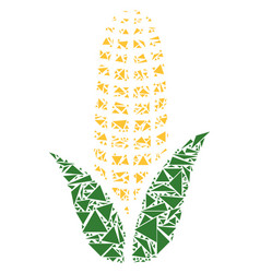Corn collage of triangles vector