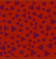 creative print withornamental triangles vector image