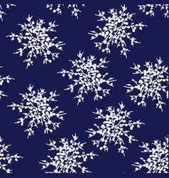 decorative snowflakes or flower set vector image