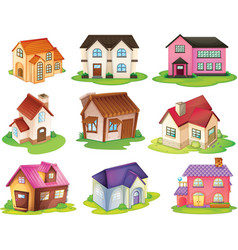 Different houses vector