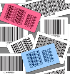 Different types of barcodes seamless background vector