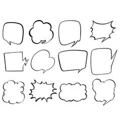 doodle design for bubble speech vector image