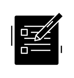 Edit plans black icon concept vector