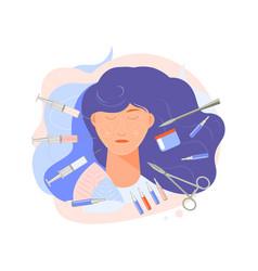 Facial plastic surgery composition vector