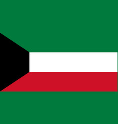 Flag in colors of kuwait image vector