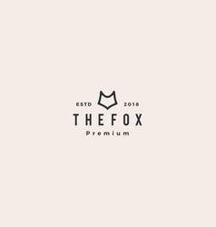 fox logo hipster vintage retro icon vector image