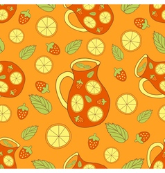 fresh sangria pattern vector image