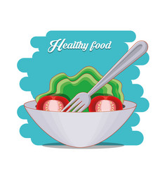 fresh vegetables salad healthy food vector image