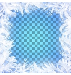 frost glass pattern Winter frame on vector image