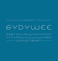 Future font cyrillic alphabet vector