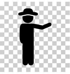 Gentleman show icon vector